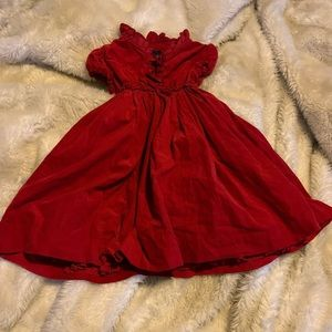Girls red corduroy dress